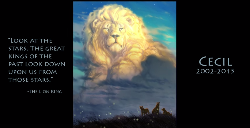 The Lion King Animator Paints Tribute To Cecil The Lion