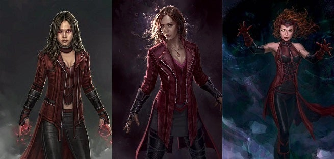 Alternate Scarlet Witch Design For Avengers: Age Of Ultron Revealed