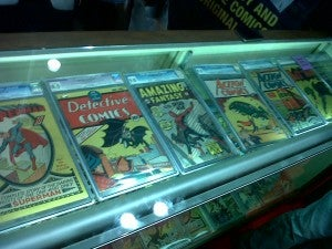 millions of dollars in comics at the CGC booth at New York Comic Con