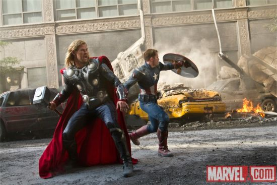 Avengers movie Thor and Captain America
