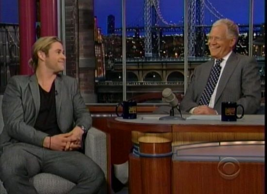 Chris Hemsworth and David Letterman