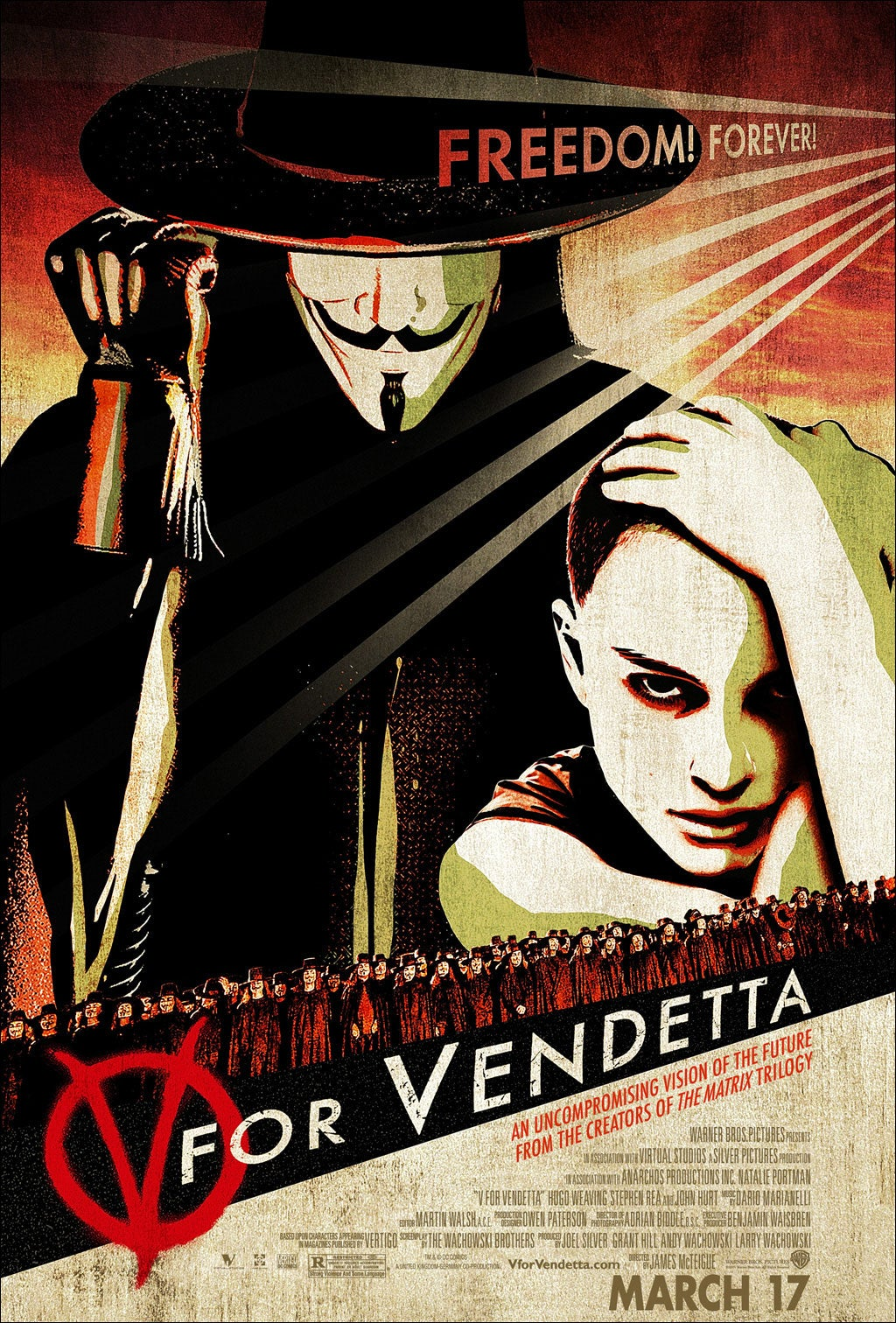 for vendetta  V For Vendetta (2005) Film