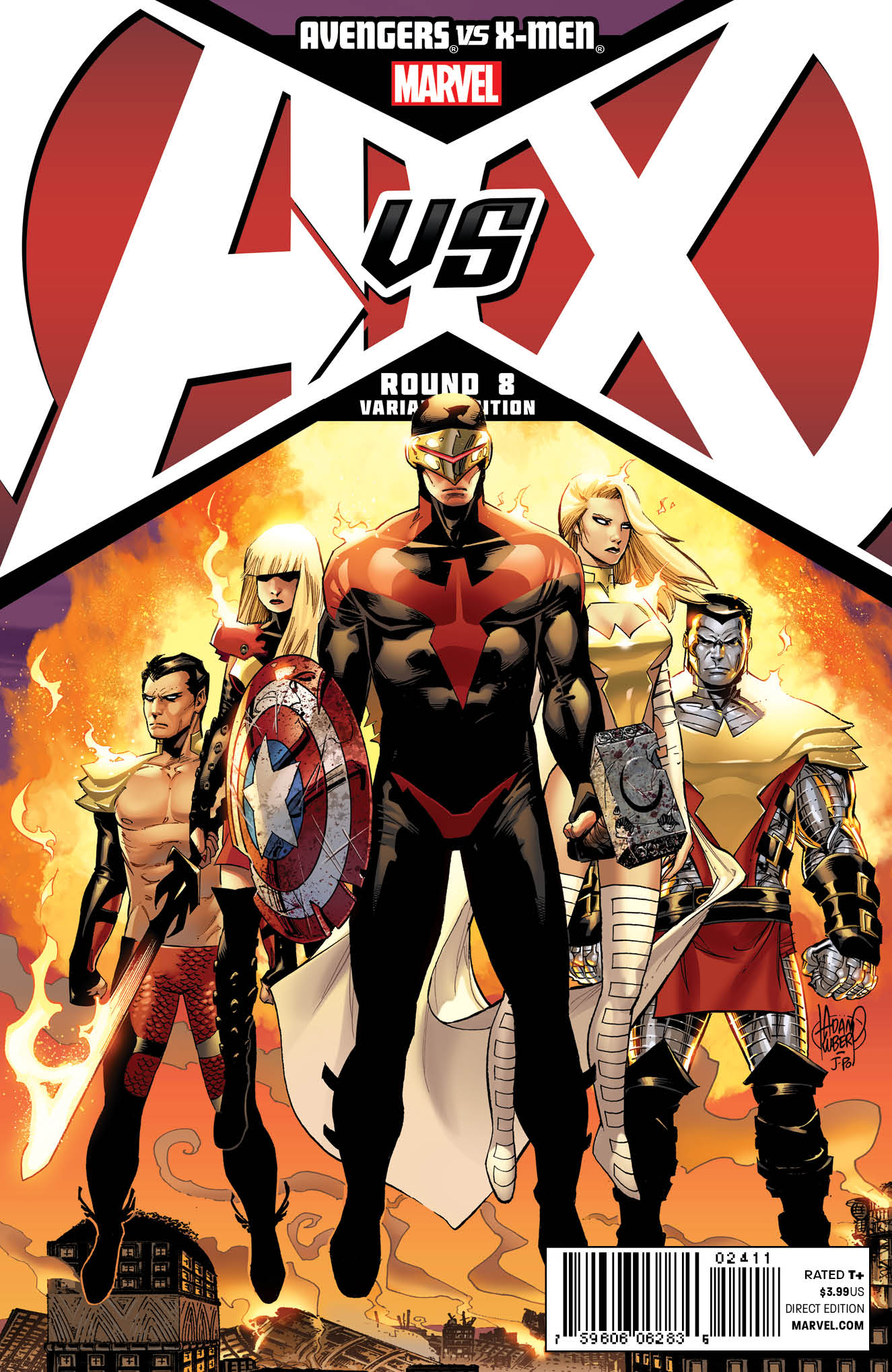 avengers vs x men 8 adam kubert cover released