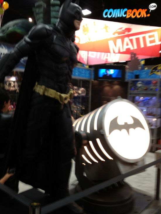 Comic-Con Batman and Bat Signal
