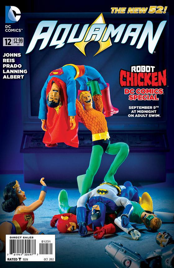 robot chicken variant sees aquaman upstage the justice league