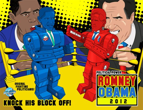 Barack Obama Fights Mitt Romney