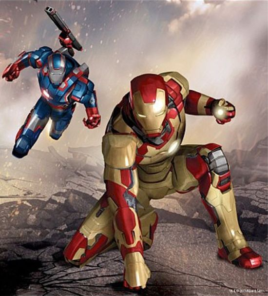 Iron Man 3 Promo Art Reveals Iron Patriot As An Ally