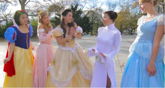 Disney Princesses Welcome Princess Leia