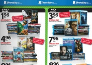 Walmart Black Friday DVDs and Blu-Rays