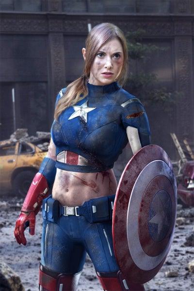 Captain America: The Winter Soldier: Alison Brie Wants to Break Chris Evans's Kneecaps