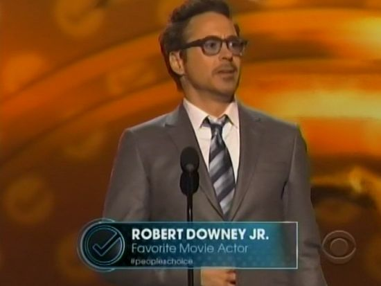 People's Choice Awards Favorite Movie Actor Robert Downey Jr.