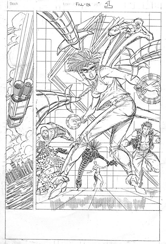 """Rob Liefeld Reveals """"Lost"""" New Mutants Art From 1988"""