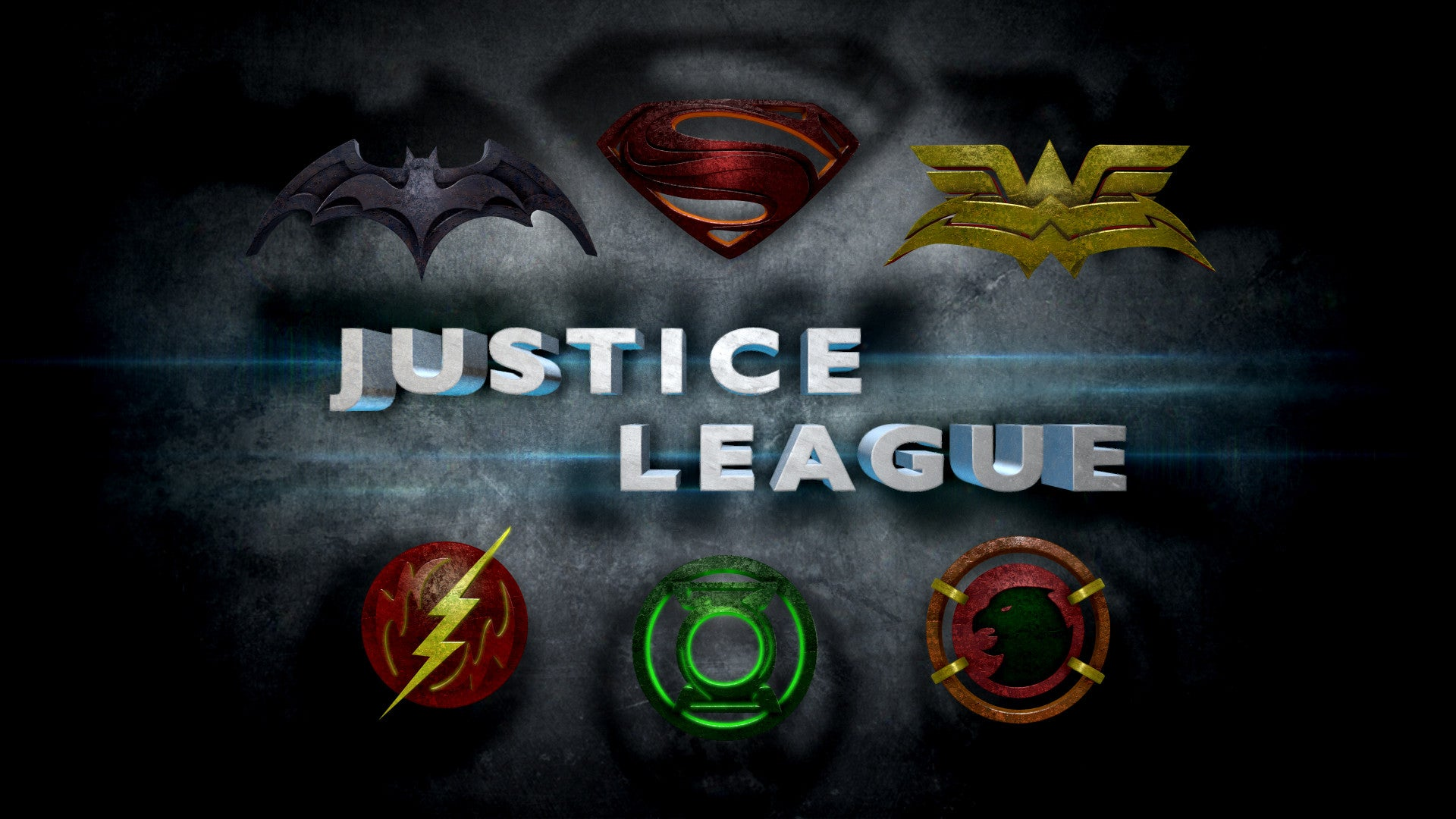 Justice League Movie Logos In the Style of Man of SteelJustice League Emblem