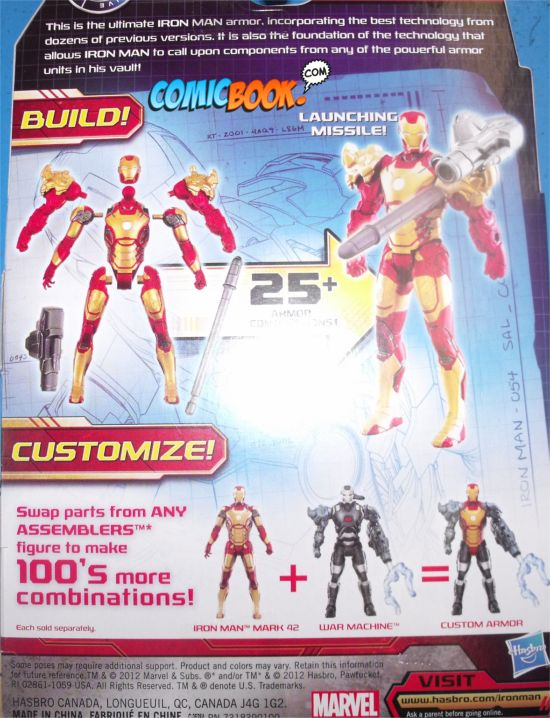 Iron Man 3 Action Figures Assemblers Back
