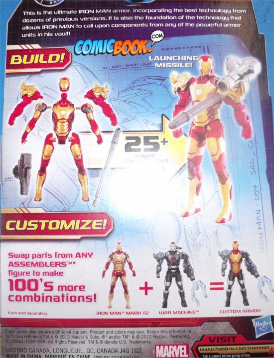 Iron Man 3 Action Figures Assemblers Back