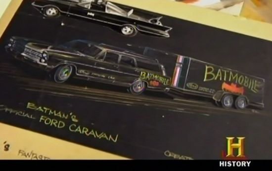 American Pickers Touring Batmobile concept art