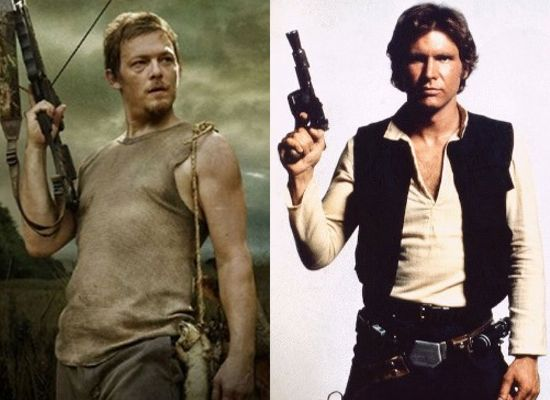 Daryl Dixon and Han Solo