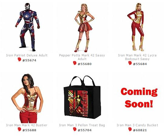 Iron Man 3 costumes