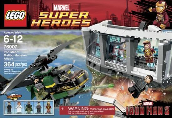 Iron Man 3 Malibu Mansion Attack Lego Set