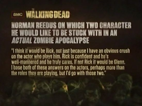 The Walking Dead: Norman Reedus Quote About His Crush On