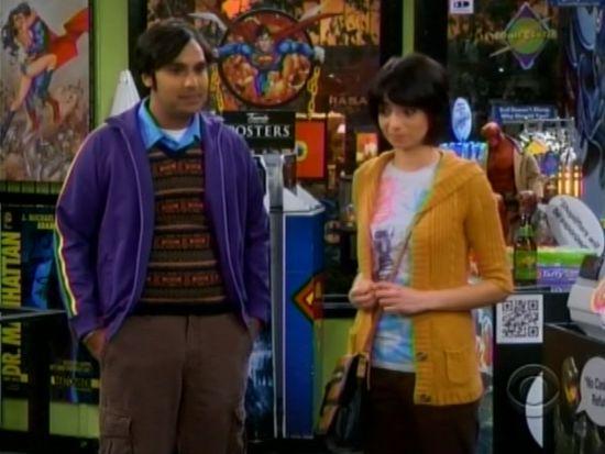 who is dating raj on the big bang theory