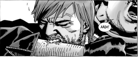 The Walking Dead #107 bite