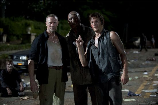Hines Ward zombie with Daryl and Merle