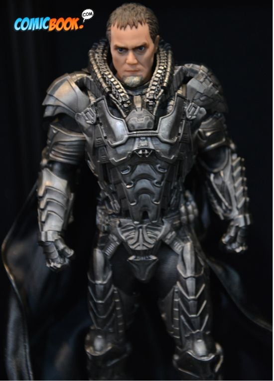 Toy Fair Man of Steel Zod closeup