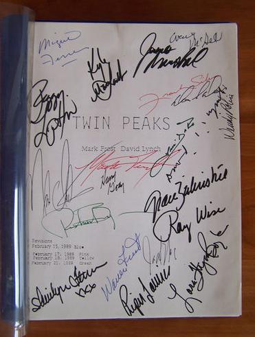 Twin Peaks Pilot Script Signed By 21 Contributors For Sale Online