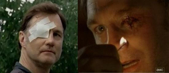 The Walking Dead Governor's Bad Eye moves