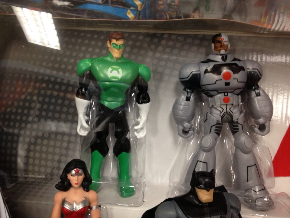 Green Lantern, Wonder Woman, Batman, Cyborg