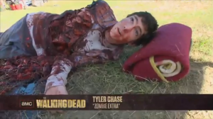 "Screen Capture naming THE WALKING DEAD's Ben as ""zombie extra"""