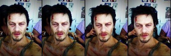 Daryl Dixon as zombie