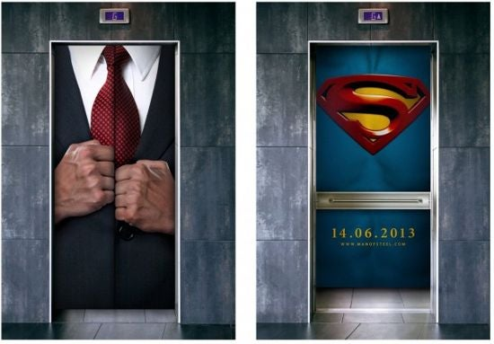 Man of Steel Elevator Ad
