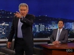 Harrison Ford Storms Off Jimmy Kimmel