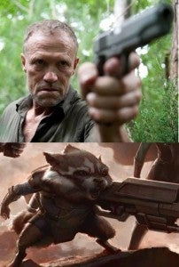 Michael Rooker Rocket Raccoon