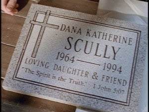Dana Scully's tombstone