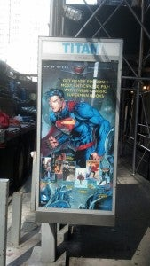 Superman phone booth ad