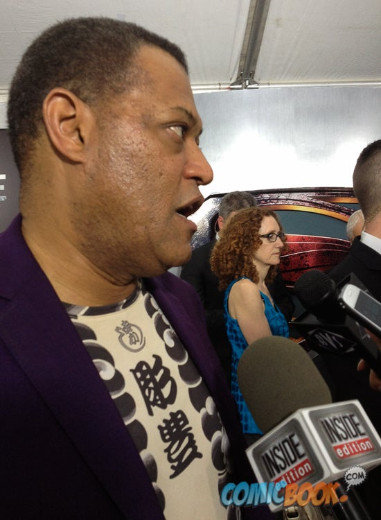 Man of Steel World Premiere Interview: Laurence Fishburne