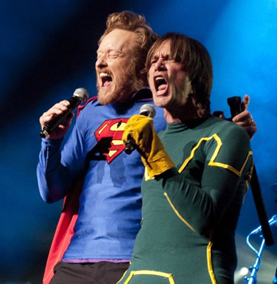 Conan O'Brien & Jim Carrey United In Song Before Kick-Ass 2 & Man Of Steel Controversy