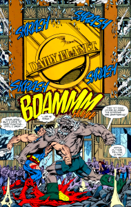 Superman Doomsday fight