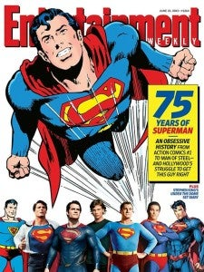 Entertainment Weekly Superman 75th Anniversary Cover