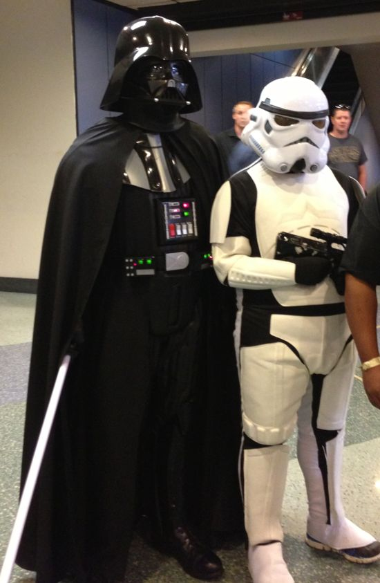 Fandomfest Darth Vader & Storm Trooper