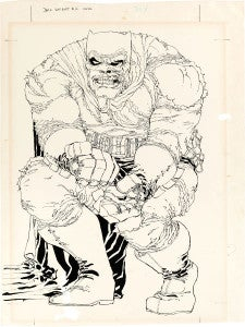 The Dark Knight Returns #2 cover auction
