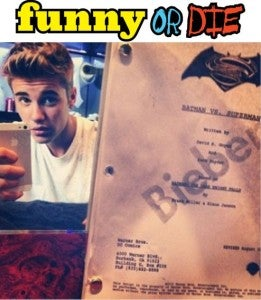 Justin Bieber Batman Funny Or Die