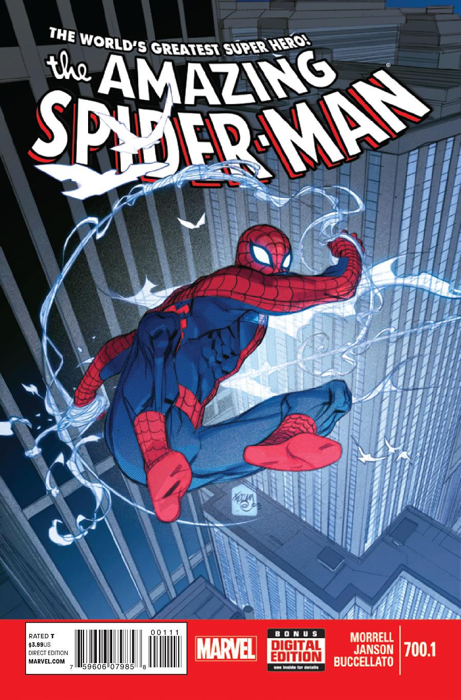 Best Comic Book Cover Artists : Amazing spider man preview peter parker back in