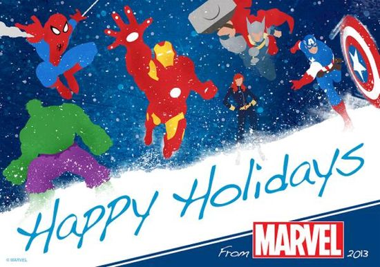 happy holidays marvel