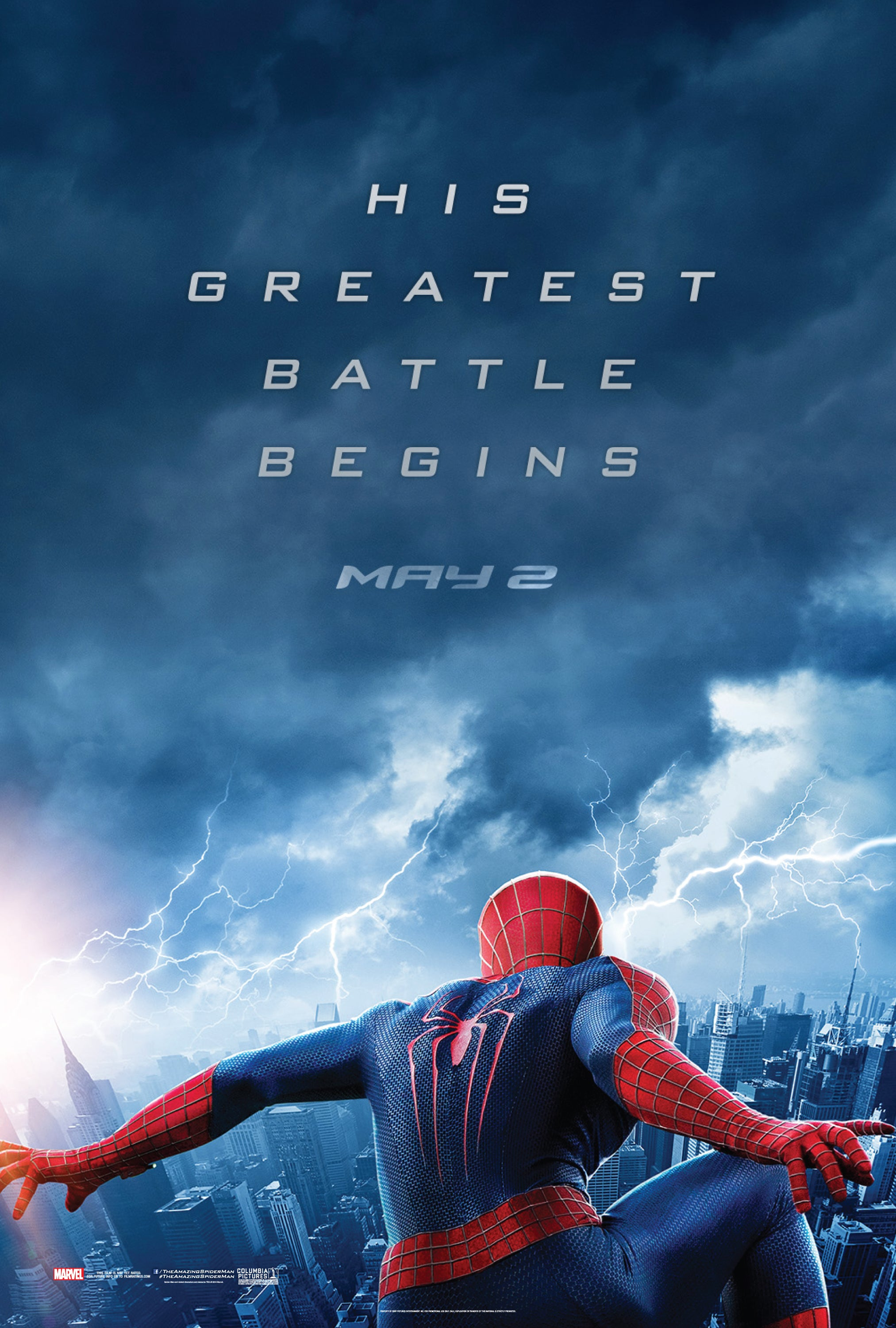 The amazing spider man 2 teaser poster released