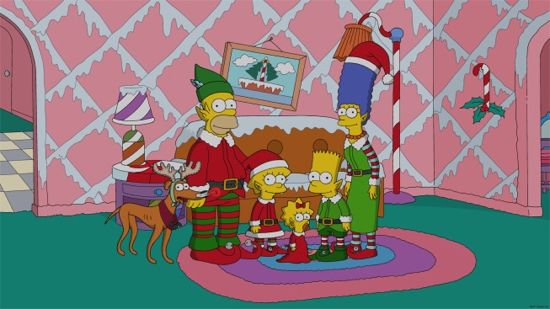 The Simpsons White Christmas Blues