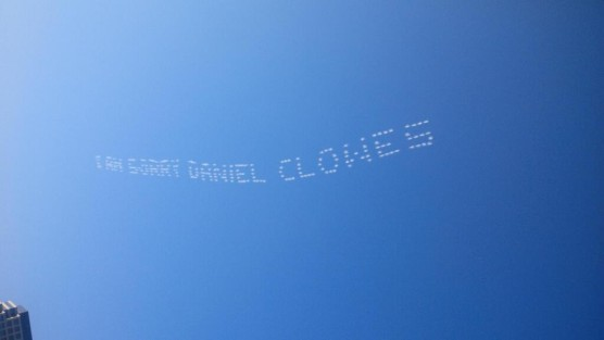 daniel-clowes-skywriting-apology